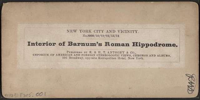 Interior of Barnum's Roman Hippodrome.