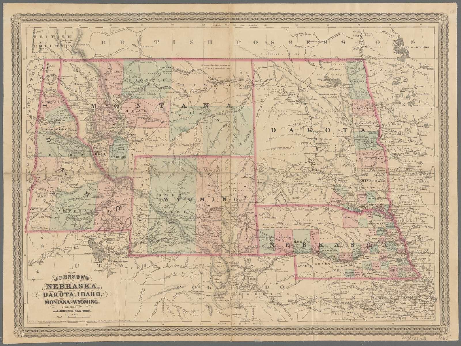 Johnson's Nebraska, Dakota, Idaho, Montana, and Wyoming