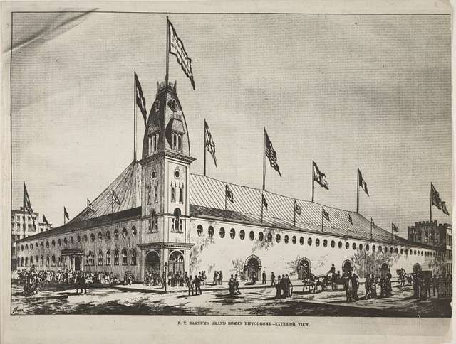 P.T. Barnum's grand Roman Hippodrome -- exterior view