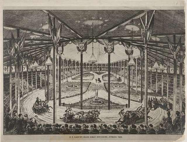 P.T. Barnum's grand Roman Hippodrome -- interior view