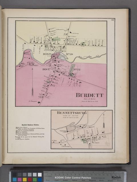 Burdett [Village]; Burdett Business Notices. ; Bennettsburg [Village]