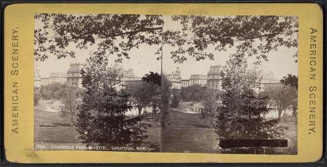Congress Park & Hotel, Saratoga, N.Y.