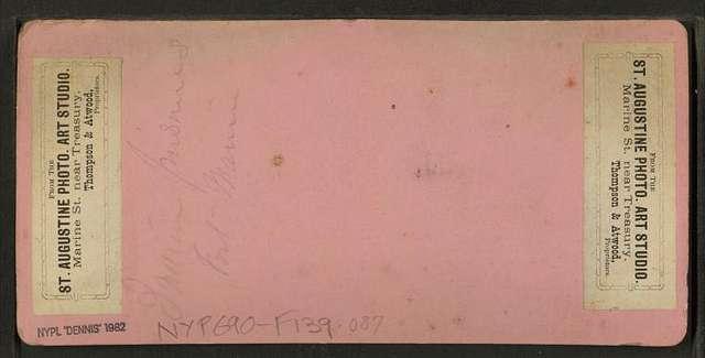 Indian prisoners,  Fort Marion.