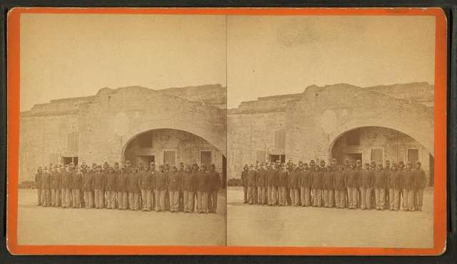 Kiowa, Comanchee, and Caddoe Indians, confined in Fort Marion. St. Augustine, Florida.