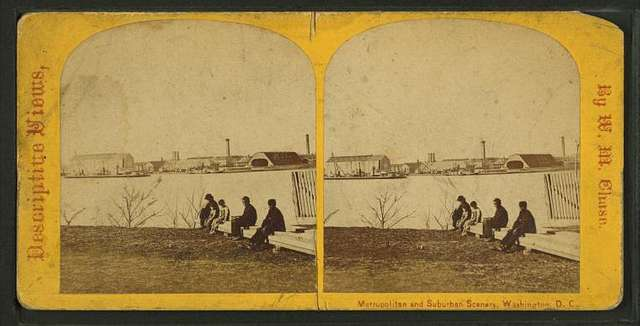 Metropolitan and Suburban Scenery, Washington, D.C.. Navy Yard, looking N.W.