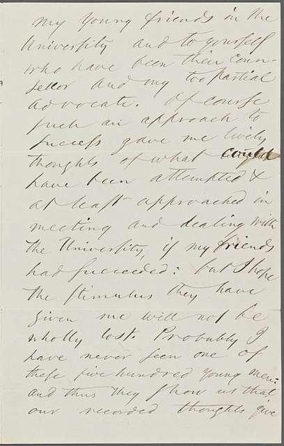 Stirling, J[ames] Hutchison, ALS to. Jan. 5, 1875.