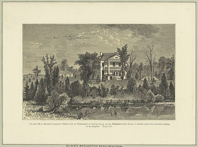 Burr's residence near New York.