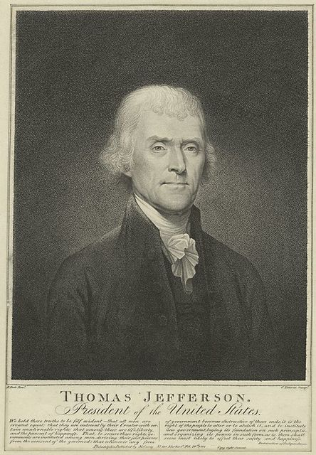 Thomas Jefferson, President of the United States.