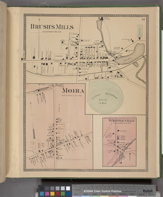 Brush's Mills [Village]; Moira [Village]; Whippleville [Village]