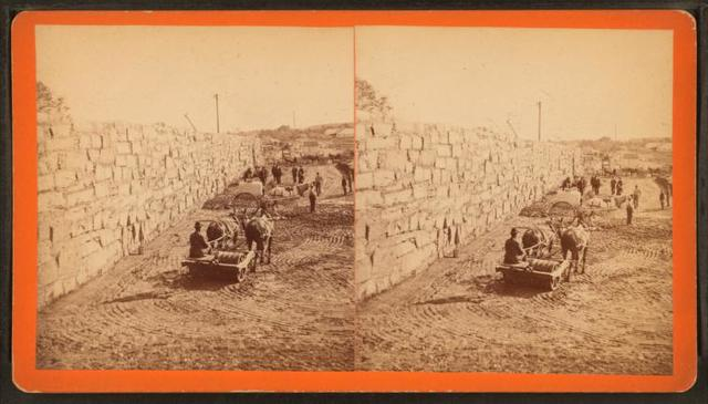 B.W.W. Dam Division, Dam III, center wall and embankment, north side of Stony Brook, Dec. 6, 1877.