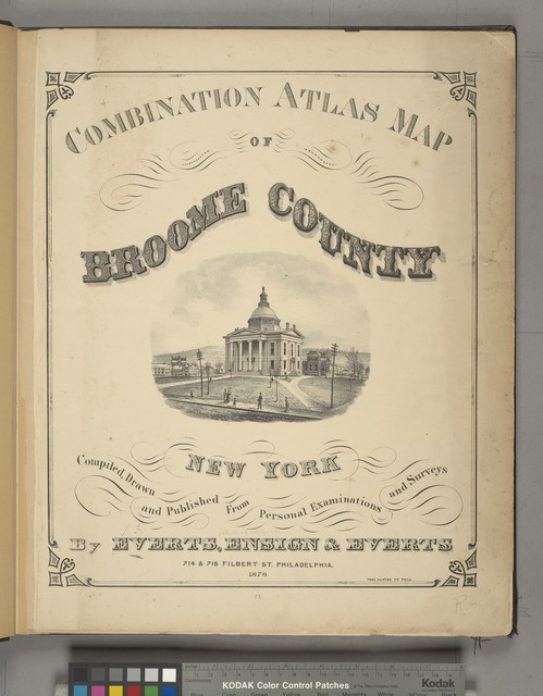 Combination Atlas Map of Broome County, New York