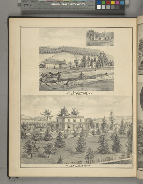 Family Burying Ground.; The Old Homestead, Res. of Edwin Lawrence, Conklin TP Broome Co., N.Y. ; Res. of A. Stanley Saxen, Conklin TP Broome Co., N.Y.