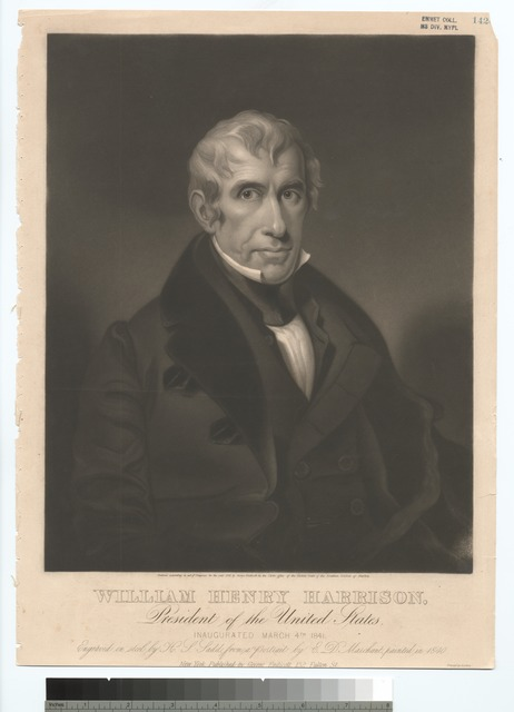 William Henry Harrison, President of the United States.