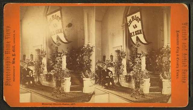 Moravian Church – Easter, 1877.