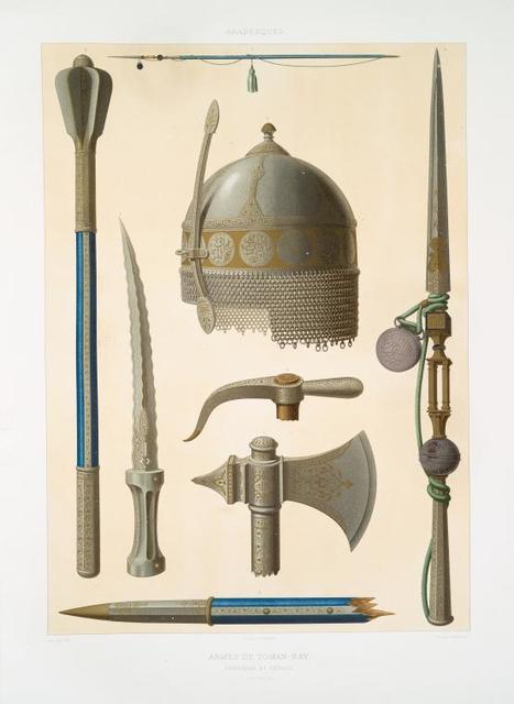 Arabesques : armes de Toman-Bay : ensembles et détails (XVe. siècle)