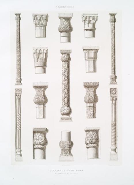 Arabesques : colonnes et piliers, ensembles et détails