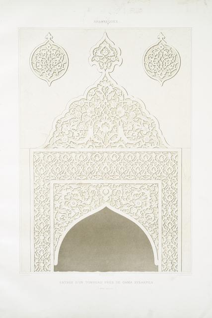 Arabesques : entrée d'un tombeau près de Gama Sysaryeh (XVIIIe. siècle)