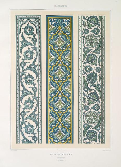 Arabesques : faïences murales : bordeures (XVIe. siècle)