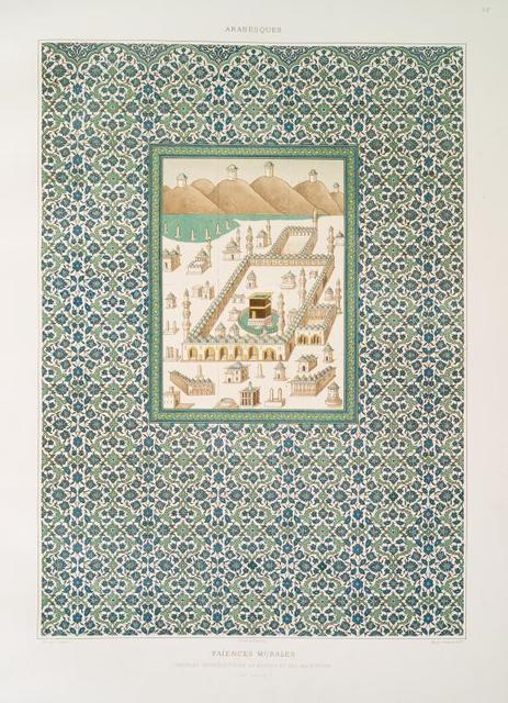 Arabesques : faïences murales : panneau représentant la kaabah et ses alentours (XVIe. siècle)