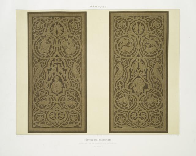 Arabesques : hôpital du Moristan : sculptures de la grande porte intérieure (XIIIe. siècle)