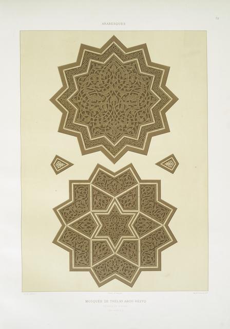 Arabesques : mosquée de Thelay Abou-Rézyq : détails du mimbar (XVe. siècle) : 2