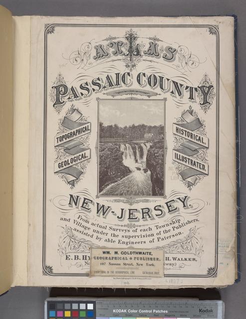 Atlas of Passaic County, New-Jersey