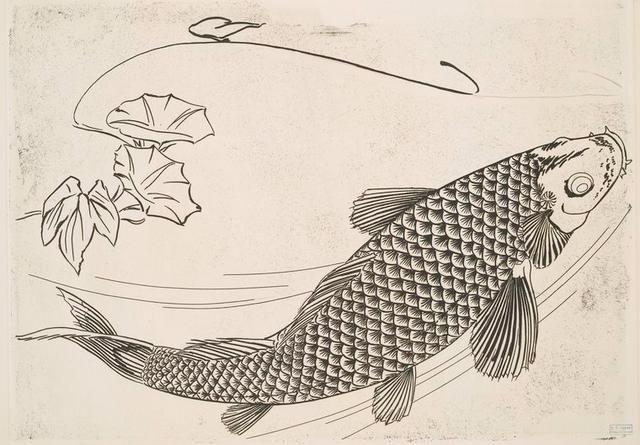 [Grand poisson dans le genre japonais.]