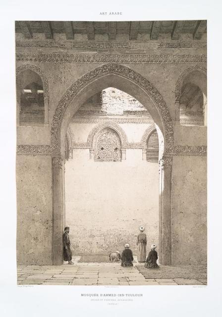 Mosquée d'Ahmed-ibn-Touloun.  Arcade et fenêtres intérieures (IXe. siècle)