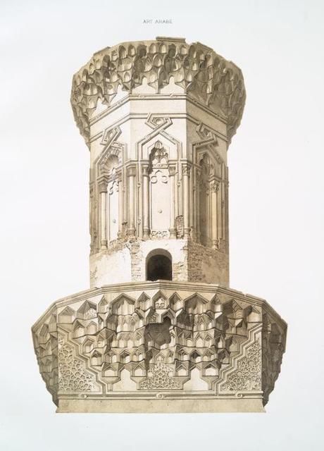 Mosquée de Mohammed-ben-Qalaoûn, détails du minaret XIVe. siècle (1)