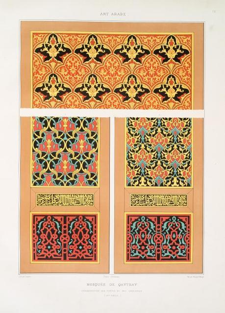 Mosquée de Qaytbay : ornementation des portes et des armoires (XVe. siècle)