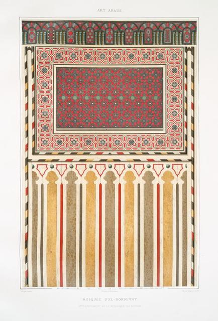 Mosquée d'El-Bordeyny : développement de la mosaïque du mihrab