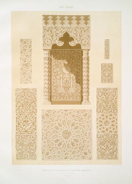 Mosquée sépulcrale du soultan Barqouq, détails du mimbar (XIVe. siècle)