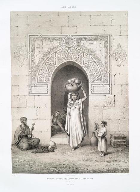 Porte d'une maison rue Chérawy, au Kaire (XIVe. siècle)