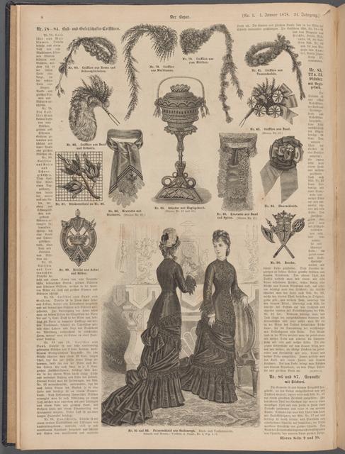 Prinzesskleid aus Seidenreps. Rück- und Vorderansicht Nr. 91 und 92, Seite 8
