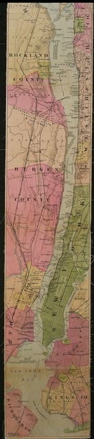 The Hudson by daylight map : showing the prominent residences, historic landmarks, old reaches of the Hudson, Indian names, &c.