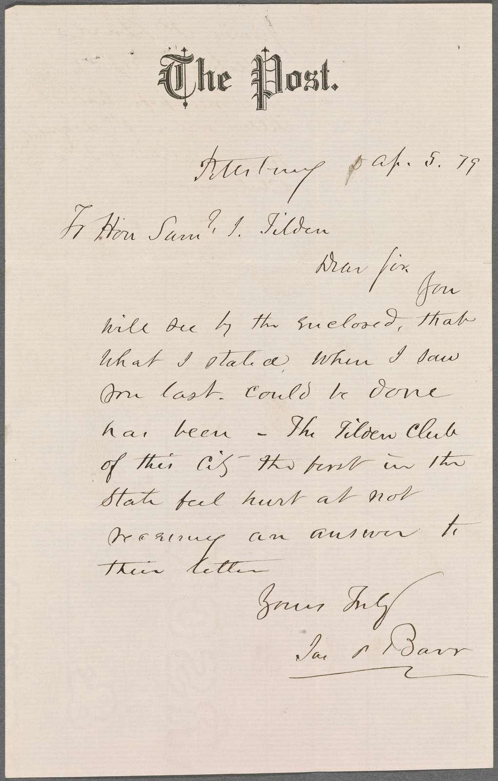 Barr, James P., 1879