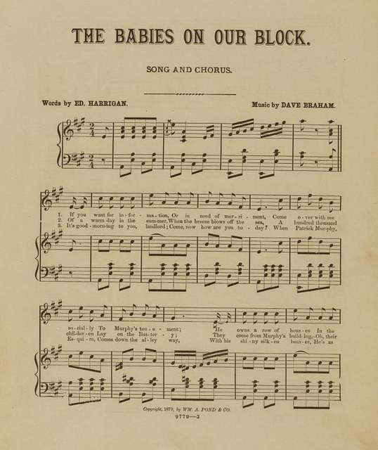 The babies on our block : song and chorus