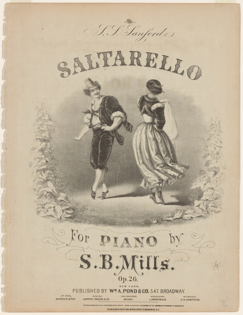 Folk and ethnic dancing on 19th-century music covers