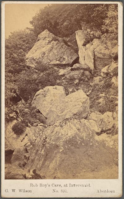 Rob Roy's Cave, at Inversnaid
