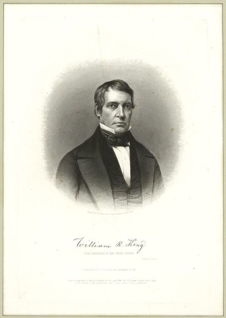 William Rufus King, Vice President of the United States.