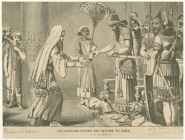 Artaxerxes giving his letter to Ezra