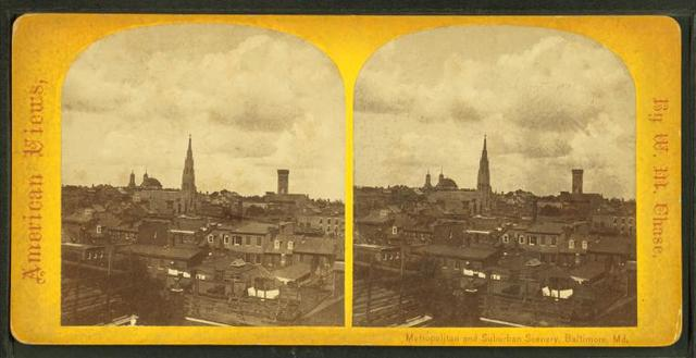 Baltimore by moonlight[showing homes, churches and the Cathedral].