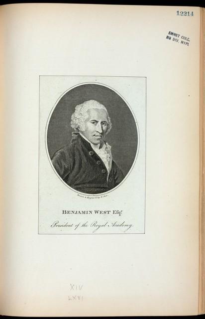Benjamin West Esqr., president of the Royal Academy.