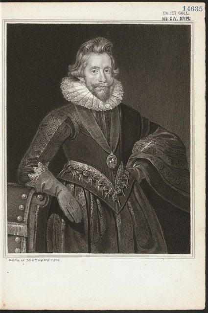 [Henry Wriothesley, Earl of Southampton.]