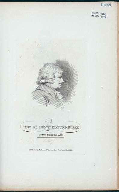 The Rt. Honble. Edmund Burke.