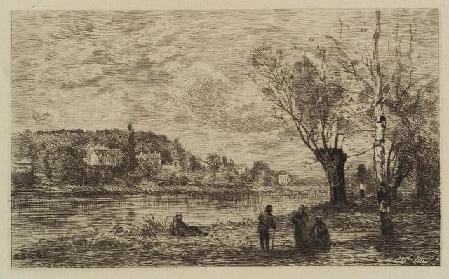 Ville d'Avray, d'apres Corot, (2nd state).