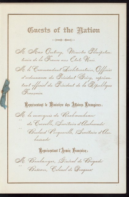 "NATL. [BALL?] [held by] THE COMMISSIONERS APPOINTED BY THE GOVERNOR OF STATE OF NEW YORK TO MEET THE GUESTS OF THE NATION [at] ""METROPOLITAN CASINO, NEW YORK, NY"" ([HOTEL?])"