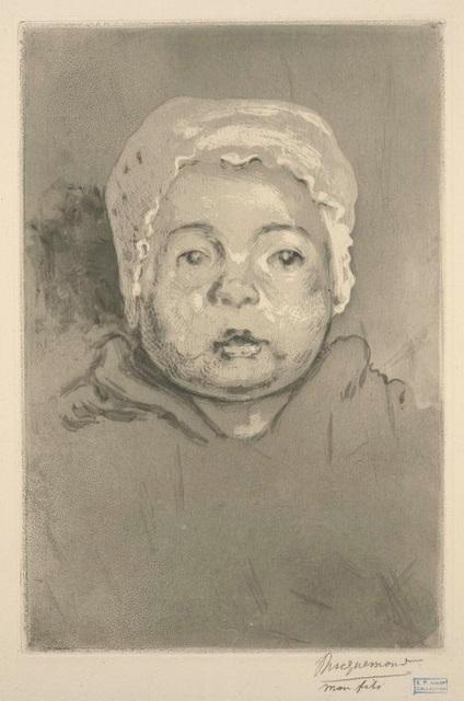 Pierre Bracquemond, fils de l'artiste, d'après nature.