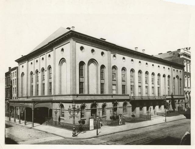 Theatres -- U.S. -- Brooklyn, Academy of Music - Exterior view.