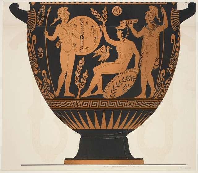 Lucanian amphora.